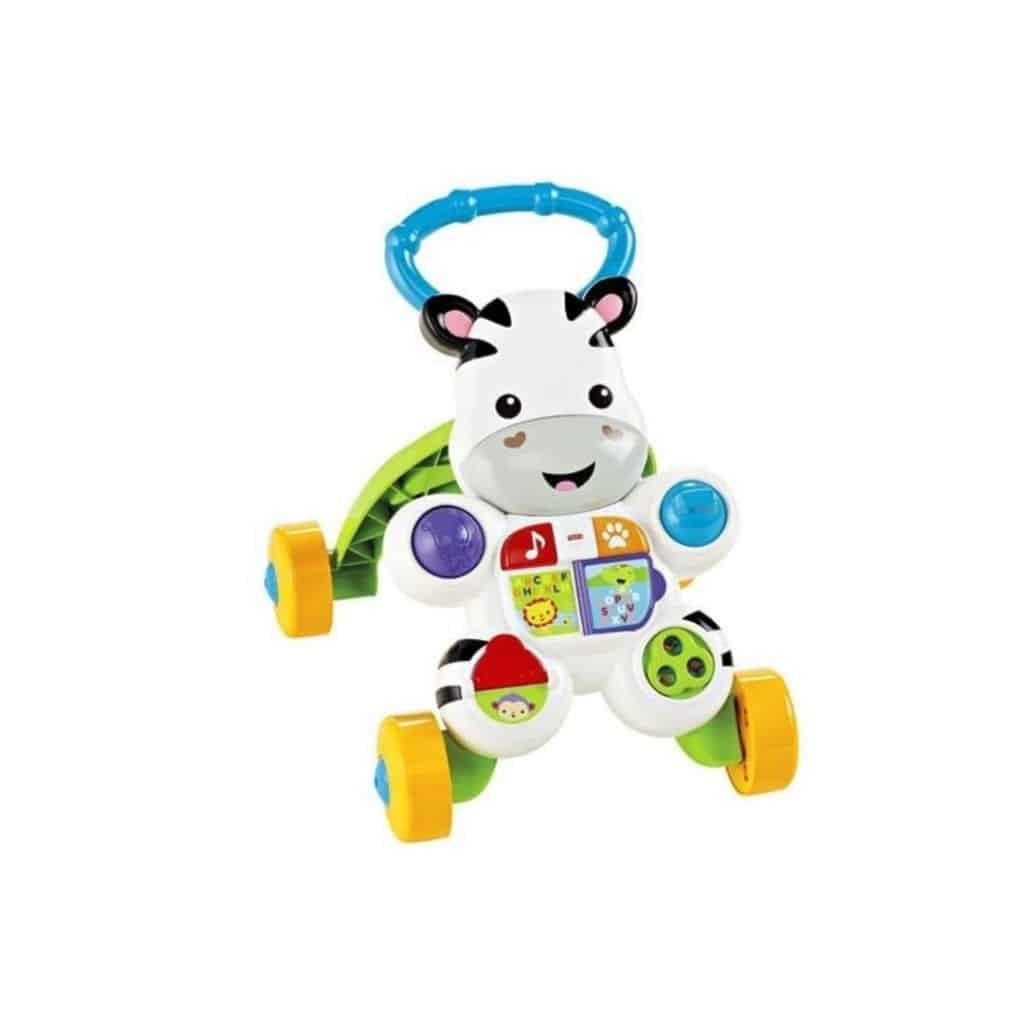 Here is an activity walker in bright colors that children themselves usually prefer. It has music and other activities. It is useful for both young and older children for long periods. It is just every kid's dream toy to have.