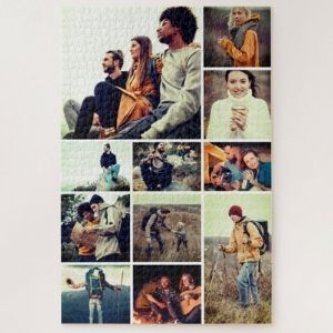 Custom 1,014 Piece 11-Photo Collage Difficult Jigsaw Puzzle